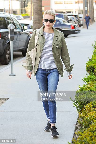 Emma Roberts is seen on January 17 2017 in Los Angeles California