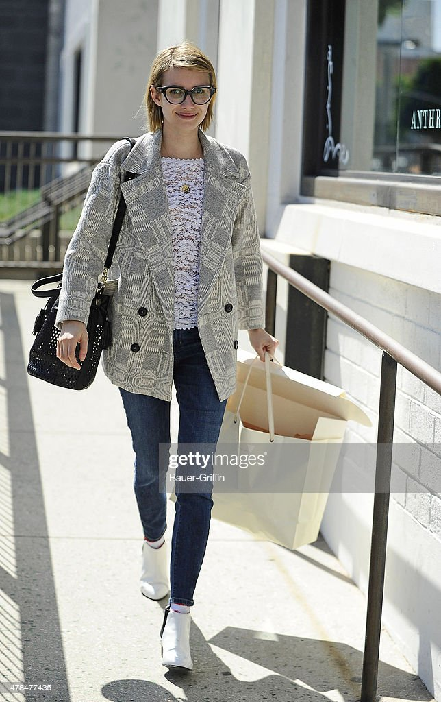 <a gi-track='captionPersonalityLinkClicked' href=/galleries/search?phrase=Emma+Roberts&family=editorial&specificpeople=226535 ng-click='$event.stopPropagation()'>Emma Roberts</a> is seen on March 13, 2014 in Los Angeles, California.
