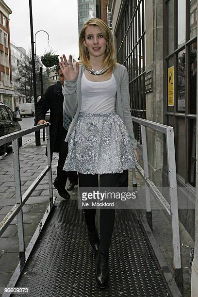 Emma Roberts is sighted at BBC Radio Studios on February 12 2010 in London England