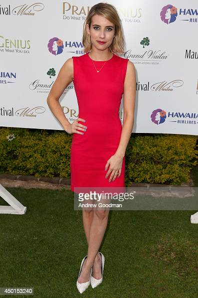 Emma Roberts receives the 2014 Maui Film Festival Shining Star Award at the Seaside Cinema at the 2014 Maui Film Festival at Wailea on June 5 2014 in...