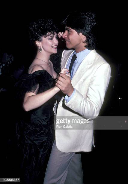 Emma Samms and John Stamos during 20th Anniversary Celebration For 'General Hospital' at Century Plaza Hotel in Los Angeles California United States