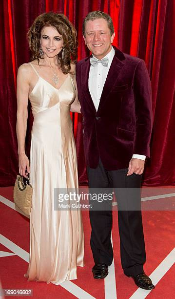 Emma Samms and Jon Culshaw attend the British Soap Awards at Media City on May 18 2013 in Manchester England