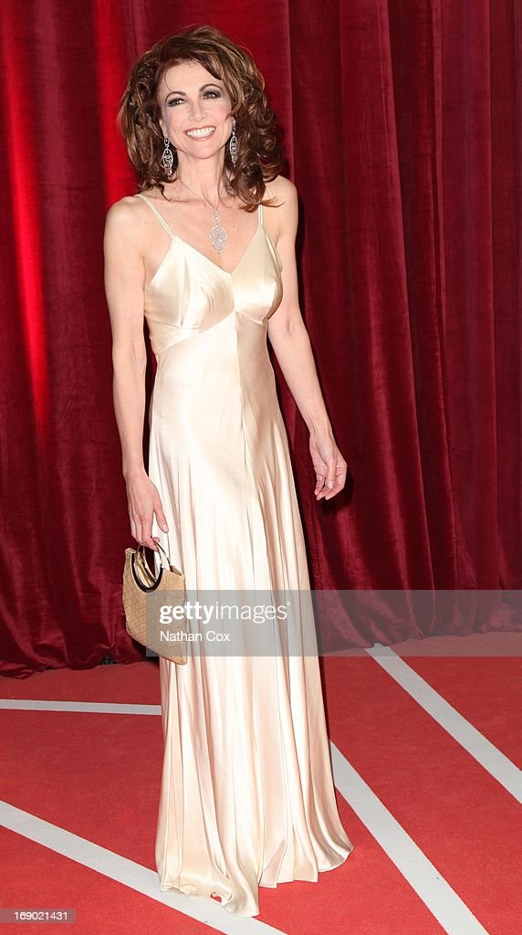 Emma Samms arrives at the British Soap Awards 2013 Red Carpet arrivals at Media City on May 18, 2013 in Manchester, England.