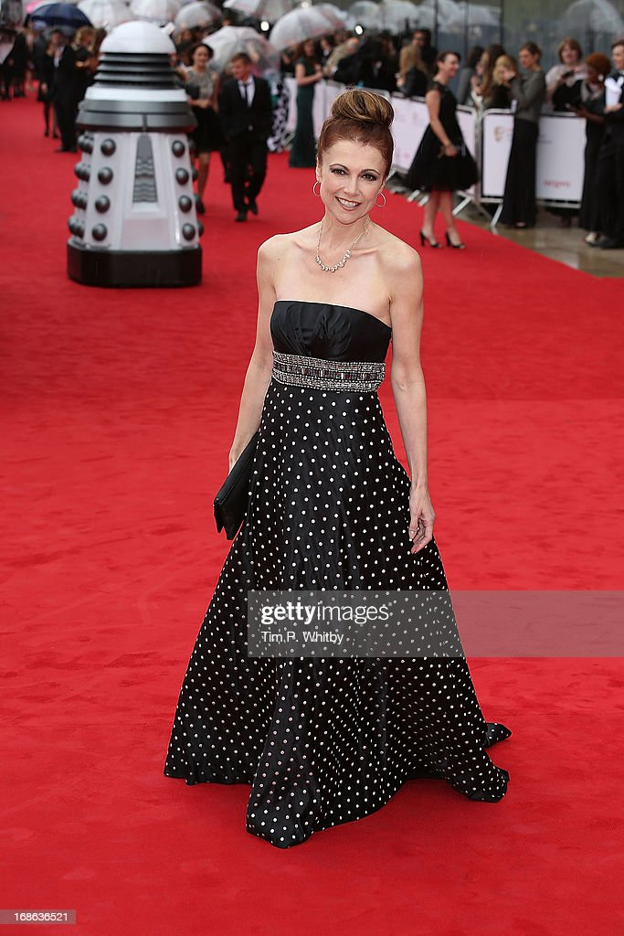 Emma Samms attends the Arqiva British Academy Television Awards 2013 at the Royal Festival Hall on May 12, 2013 in London, England.