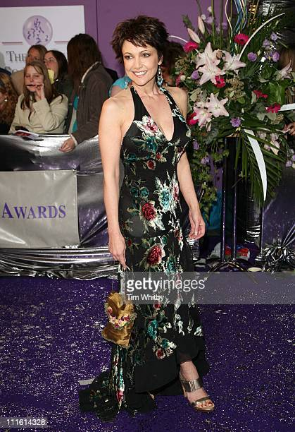 Emma Samms during British Soap Awards 2006 Arrivals at BBC Television Centre in London Great Britain