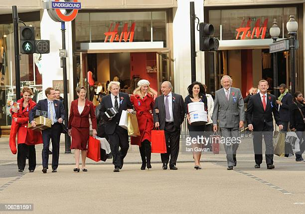 Emma Samms Starlight Foundation Andy Street MD of John Lewis Dame Judith Mayhew Jonas Chairman of the New West End Company Boris Johnson a West End...
