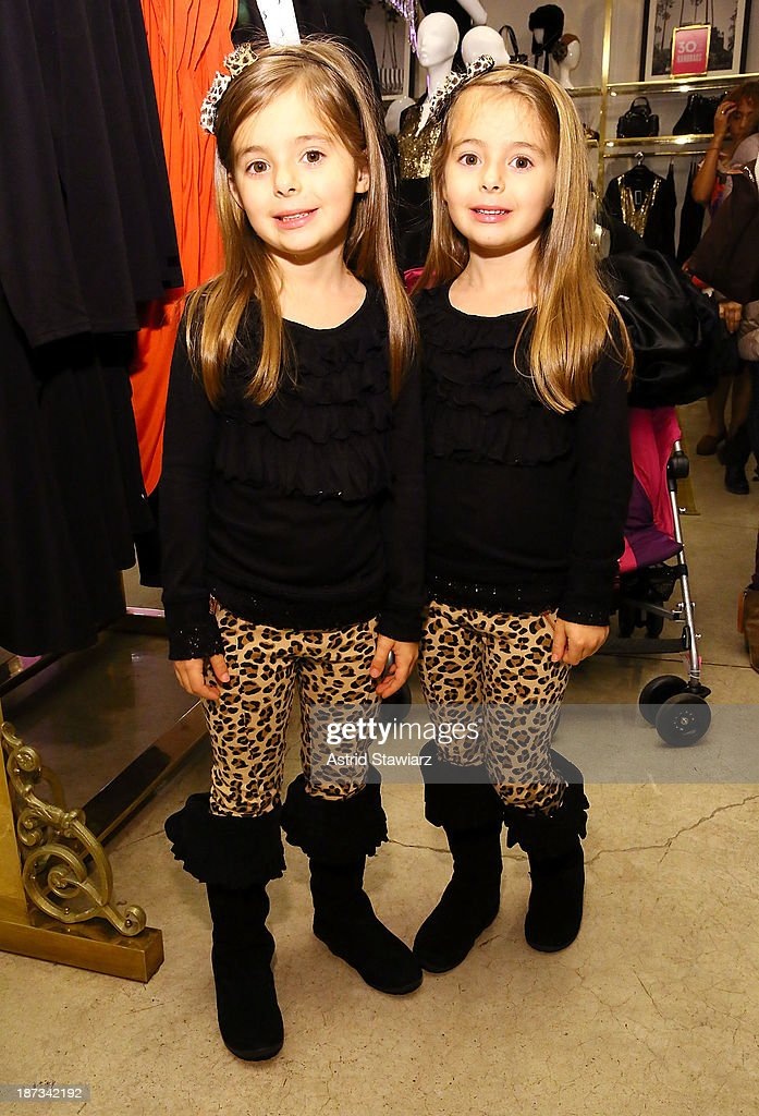 Emma Schimming and Madeleine Schimming attend the Vanity Fair & Juicy Couture 'Wild For Gifts' Celebration on November 7, 2013 in New York City.