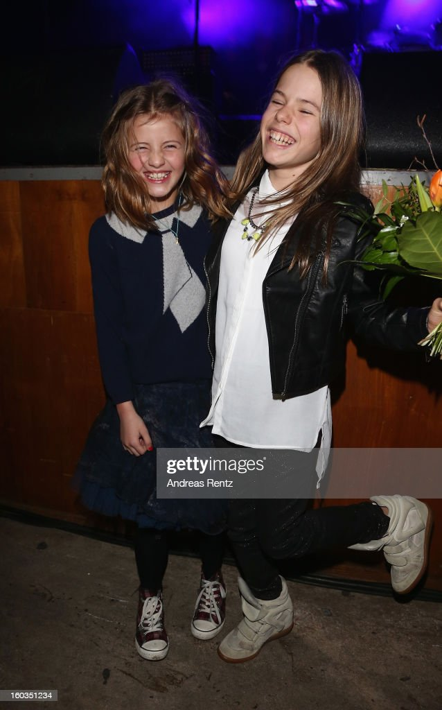 Emma Schweiger (L) and Paula (R) attend the after show party to 'Kokowaeaeh 2' - Germany Premiere at Astra on January 29, 2013 in Berlin, Germany.