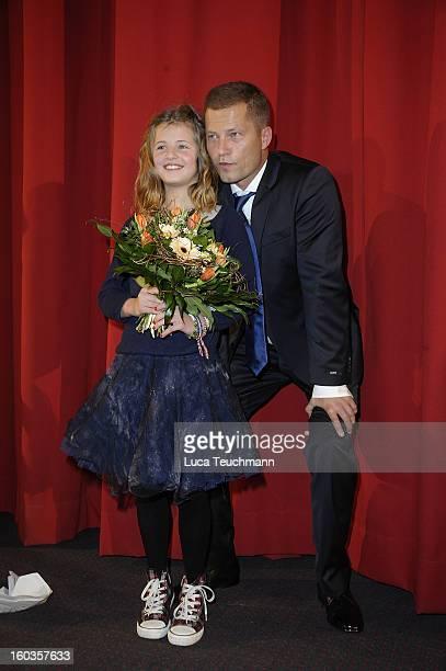 Emma Schweiger and Til Schweiger attends 'Kokowaeaeh 2' Germany Premiere at Cinestar Potsdamer Platz on January 29 2013 in Berlin Germany