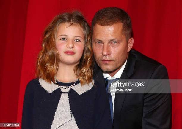 Emma Schweiger and Till Schweiger attend 'Kokowaeaeh 2' Germany Premiere at Cinestar Potsdamer Platz on January 29 2013 in Berlin Germany