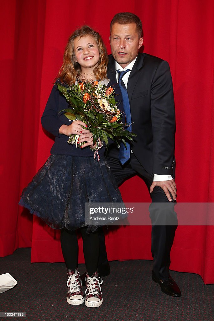 Emma Schweiger and Till Schweiger attend 'Kokowaeaeh 2' - Germany Premiere at Cinestar Potsdamer Platz on January 29, 2013 in Berlin, Germany.