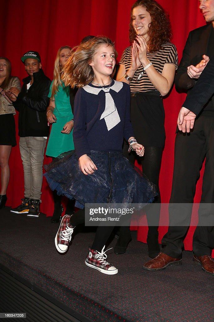 Emma Schweiger attends 'Kokowaeaeh 2' - Germany Premiere at Cinestar Potsdamer Platz on January 29, 2013 in Berlin, Germany.