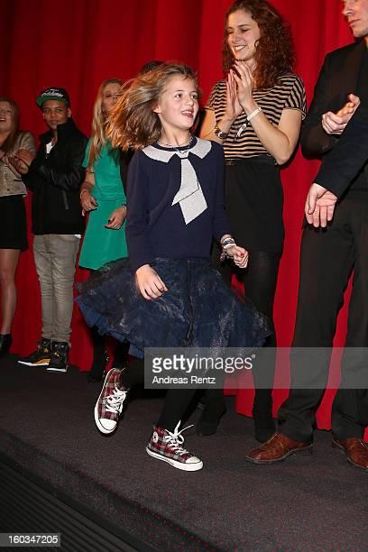 Emma Schweiger attends 'Kokowaeaeh 2' Germany Premiere at Cinestar Potsdamer Platz on January 29 2013 in Berlin Germany