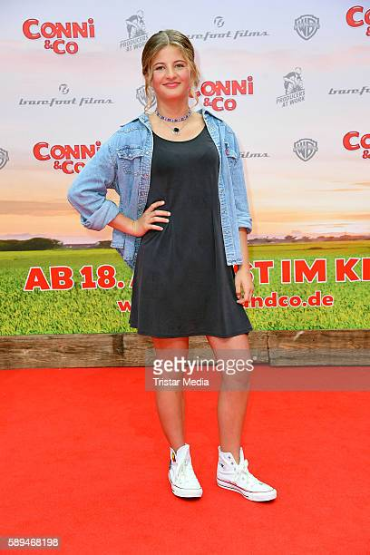 Emma Schweiger attends the 'ConniCo' Berlin Premiere on August 13 2016 in Berlin Germany