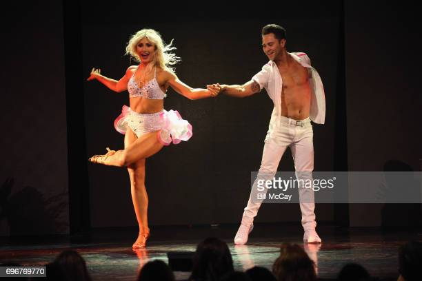 Emma Slater and Sasha Farber perform at the Dancing With The Stars Hot Summer Nights Tour at Caesars Atlantic City on June 17 2017 in Atlantic City...