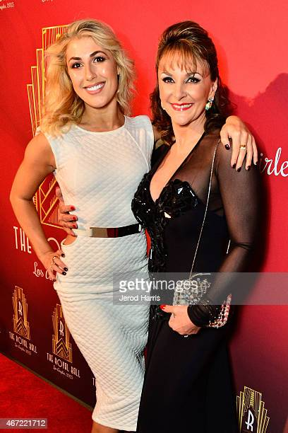 Emma Slater and Shirley Ballas attend the 2015 Royal Ball Hollywood Gala at Millennium Biltmore Hotel on March 21 2015 in Los Angeles California