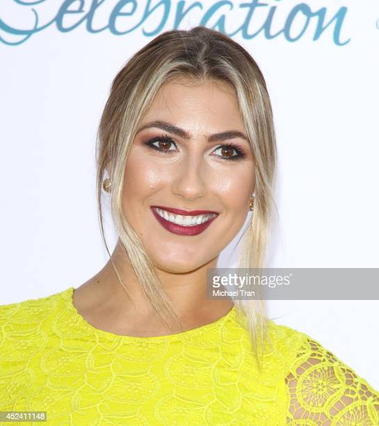 Emma Slater arrives at The Dizzy Feet Foundation's 4th Annual Celebration of Dance Gala held at Dorothy Chandler Pavilion on July 19 2014 in Los...