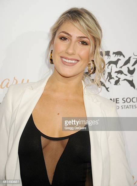 Emma Slater arrives at The Humane Society Of The United States 60th anniversary benefit gala at The Beverly Hilton Hotel on March 29 2014 in Beverly...