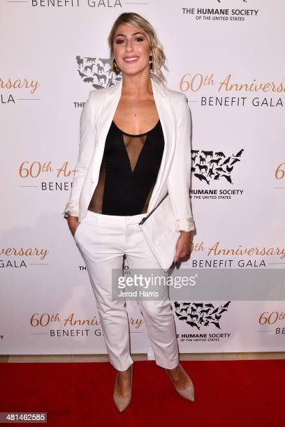 Emma Slater attends the Humane Society of the United States 60th Anniversary Benefit Gala at The Beverly Hilton Hotel on March 29 2014 in Beverly...