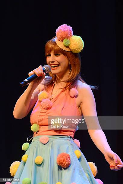 Emma Smith of The Puppini Sisters Perform at City Varieties Music Hall on March 07 2016 in Leeds England