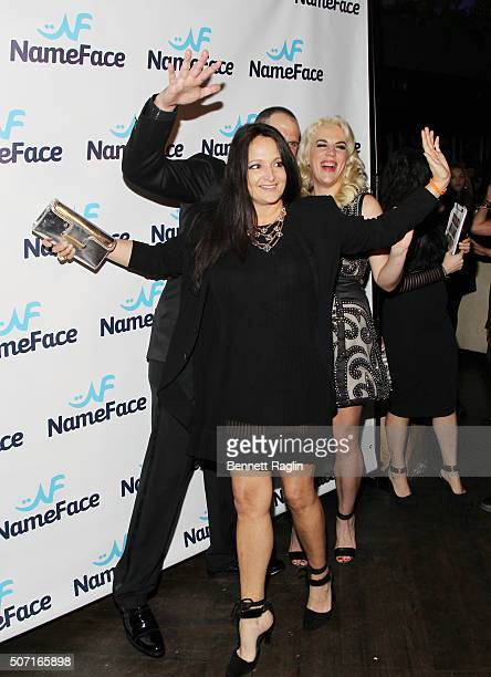 Emma Snowden Jones attends the NameFacecom launch party at No 8 on January 27 2016 in New York City