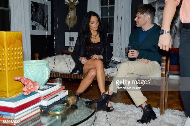 Emma Snowdon Jones and Jason Hoffman attend Deborah Hughes Birthday Celebration at Private Residence on April 6 2017 in New York City