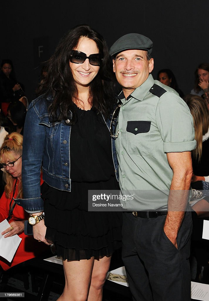 Emma Snowdon Jones (L) and Phillip Bloch attend the Noon By Noor show during Spring 2014 Mercedes-Benz Fashion Week at The Studio at Lincoln Center on September 6, 2013 in New York City.