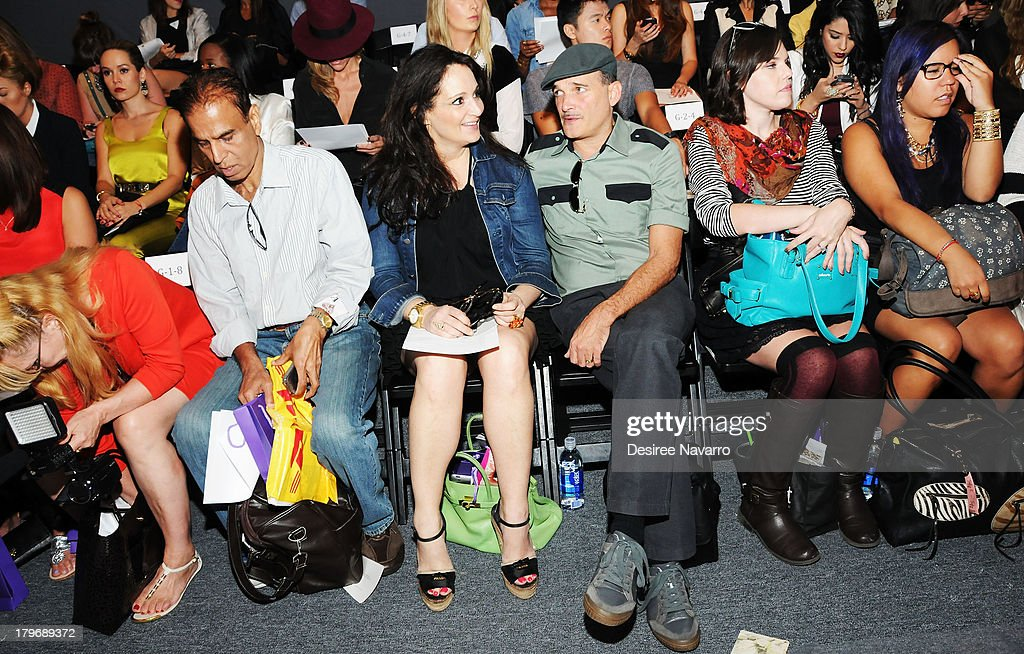 Emma Snowdon Jones (C) and Phillip Bloch attend the Noon By Noor show during Spring 2014 Mercedes-Benz Fashion Week at The Studio at Lincoln Center on September 6, 2013 in New York City.