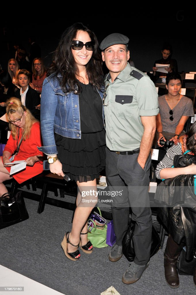 Emma Snowdon Jones (L) and Phillip Bloch attend the Noon By Noor Spring 2014 fashion show during Mercedes-Benz Fashion Week at The Studio at Lincoln Center on September 6, 2013 in New York City.