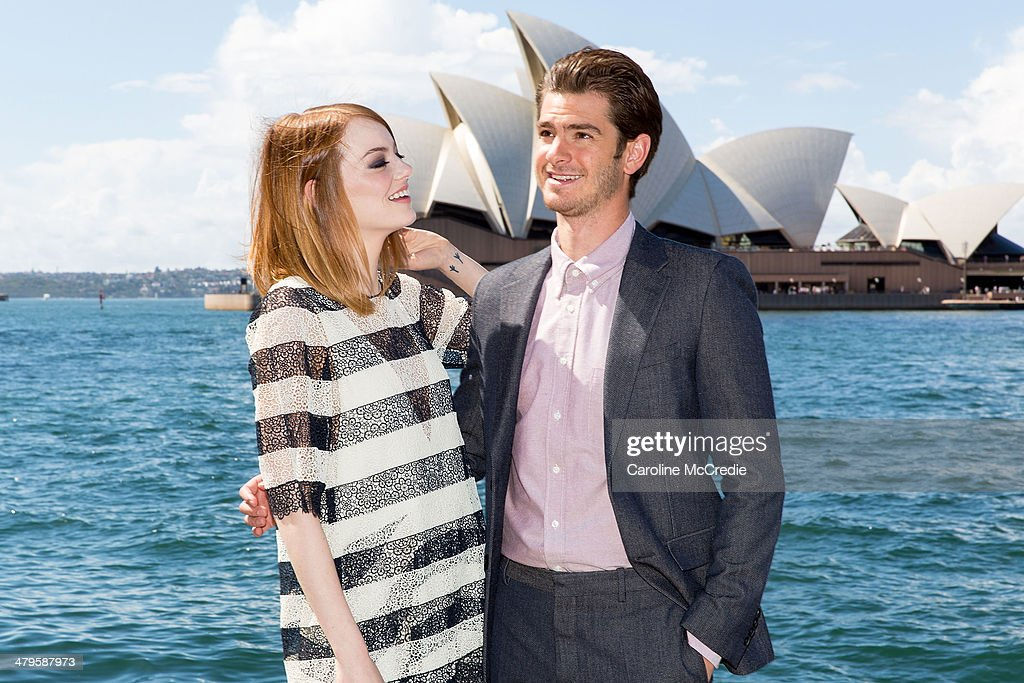 <a gi-track='captionPersonalityLinkClicked' href=/galleries/search?phrase=Emma+Stone&family=editorial&specificpeople=672023 ng-click='$event.stopPropagation()'>Emma Stone</a> and <a gi-track='captionPersonalityLinkClicked' href=/galleries/search?phrase=Andrew+Garfield&family=editorial&specificpeople=4047840 ng-click='$event.stopPropagation()'>Andrew Garfield</a> at 'The Amazing Spider-Man 2: Rise Of Electro' photocall on March 20, 2014 in Sydney, Australia.