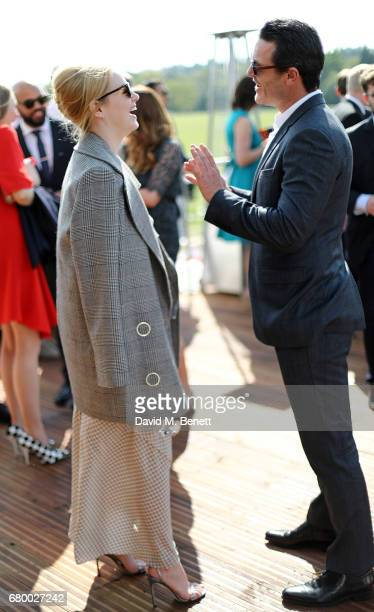 Emma Stone and Luke Evans attend the Audi Polo Challenge at Coworth Park on May 7 2017 in London United Kingdom