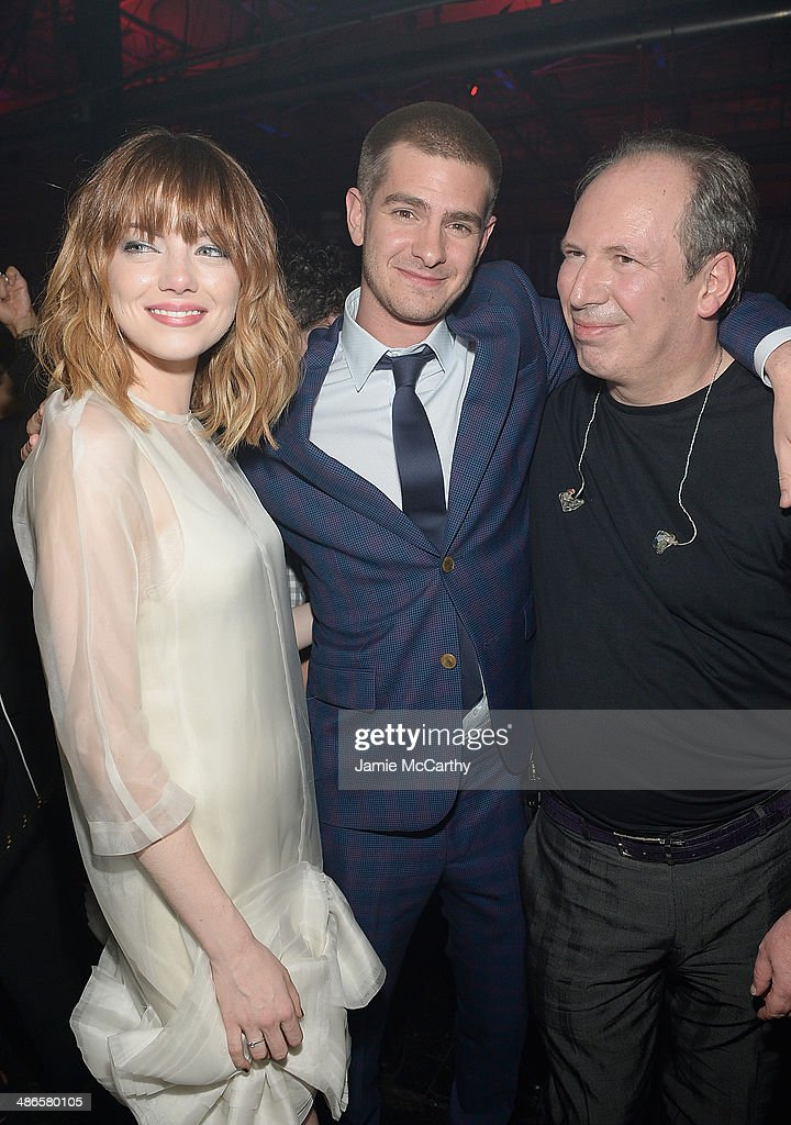 <a gi-track='captionPersonalityLinkClicked' href=/galleries/search?phrase=Emma+Stone&family=editorial&specificpeople=672023 ng-click='$event.stopPropagation()'>Emma Stone</a>, <a gi-track='captionPersonalityLinkClicked' href=/galleries/search?phrase=Andrew+Garfield&family=editorial&specificpeople=4047840 ng-click='$event.stopPropagation()'>Andrew Garfield</a> and <a gi-track='captionPersonalityLinkClicked' href=/galleries/search?phrase=Hans+Zimmer&family=editorial&specificpeople=243005 ng-click='$event.stopPropagation()'>Hans Zimmer</a> attend the after party for 'The Amazing Spider-Man 2' premiere at Skylight at Moynihan Station on April 24, 2014 in New York City.