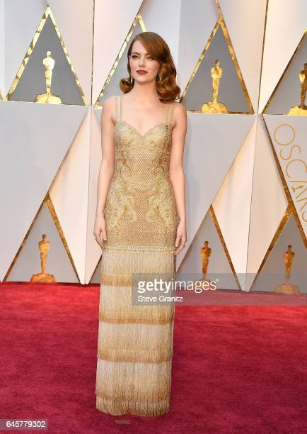 Emma Stone arrives at the 89th Annual Academy Awards at Hollywood Highland Center on February 26 2017 in Hollywood California
