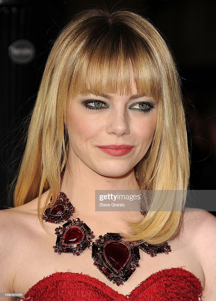 Emma Stone arrives at the 'Gangster Squad' - Los Angeles Premiere at Grauman's Chinese Theatre on January 7, 2013 in Hollywood, California.