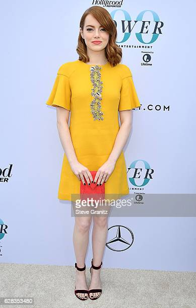 Emma Stone arrives at the The Hollywood Reporter's 25th Annual Women In Entertainment Breakfast at Milk Studios on December 7 2016 in Hollywood...