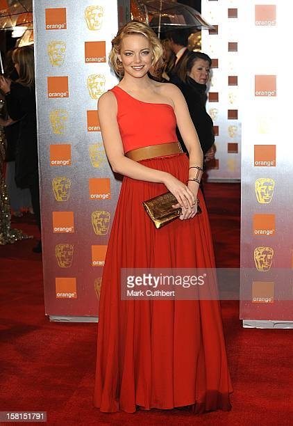 Emma Stone Arriving At The 2011 Orange British Academy Film Awards At The Royal Opera House Covent Garden London