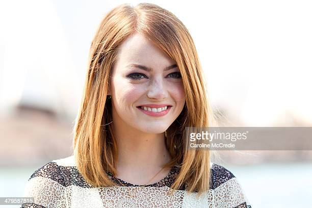 Emma Stone at 'The Amazing SpiderMan 2 Rise Of Electro' photocall on March 20 2014 in Sydney Australia