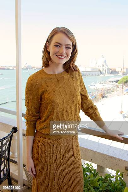 Emma Stone at the 'La La Land' Press Conference at the Danieli Hotel on September 1 2016 in Venice Italy