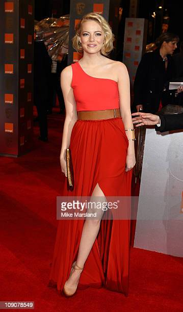 Emma Stone attends the 2011 Orange British Academy Film Awards at The Royal Opera House on February 13 2011 in London England