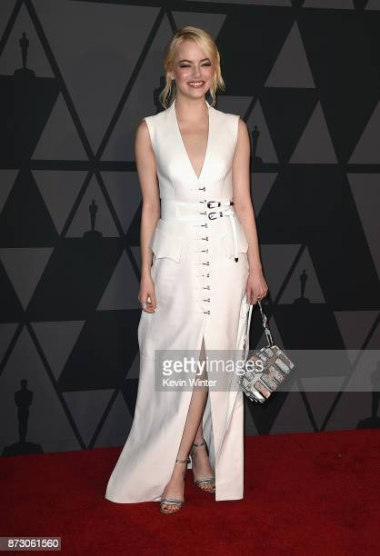 Emma Stone attends the Academy of Motion Picture Arts and Sciences' 9th Annual Governors Awards at The Ray Dolby Ballroom at Hollywood Highland...