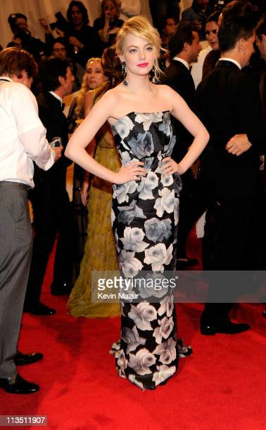 Emma Stone attends the 'Alexander McQueen Savage Beauty' Costume Institute Gala at The Metropolitan Museum of Art on May 2 2011 in New York City