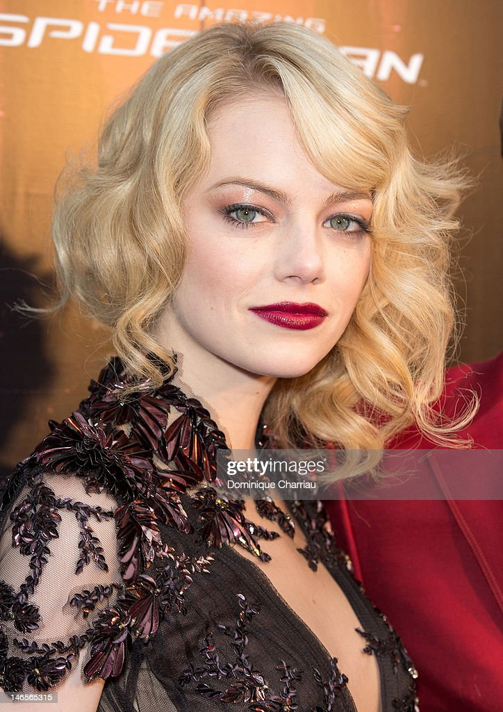 Super Emma Stone Attends The Amazing Spider Man Paris Premiere At Le Grand Picture Id146565315 Hairstyle Inspiration Daily Dogsangcom
