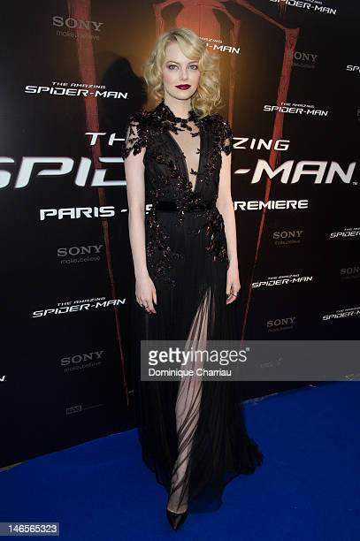 Emma Stone attends 'The Amazing Spider Man' Paris Premiere at Le Grand Rex on June 19 2012 in Paris France