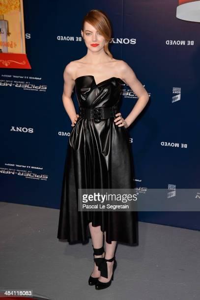 Emma Stone attends 'The Amazing SpiderMan 2' Paris Premiere at Le Grand Rex on April 11 2014 in Paris France