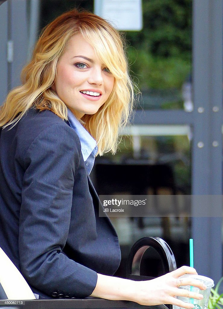 <a gi-track='captionPersonalityLinkClicked' href=/galleries/search?phrase=Emma+Stone&family=editorial&specificpeople=672023 ng-click='$event.stopPropagation()'>Emma Stone</a> attends 'The Amazing Spiderman 2' Photo Call held at Sony Pictures Studios on November 16, 2013 in Culver City, California.
