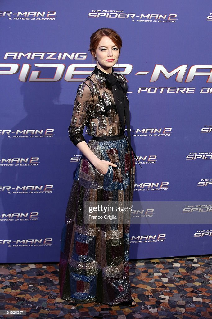 Emma Stone attends 'The Amazing Spider-Man 2: Rise Of Electro' Rome Premiere on April 14, 2014 in Rome, Italy.