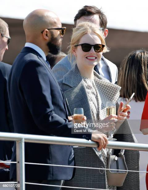 Emma Stone attends the Audi Polo Challenge at Coworth Park on May 7 2017 in London United Kingdom