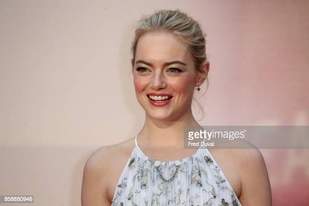 Emma Stone attends the 'Battle Of The Sexes' European Premiere during the 61st BFI London Film Festival at Odeon Leicester Square on October 7 2017...
