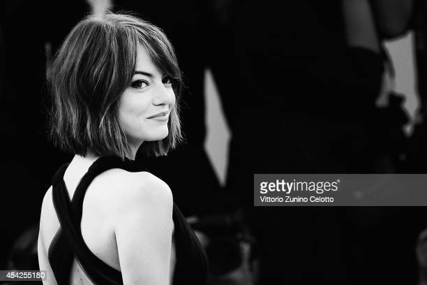 Emma Stone attends the 'Birdman' Premiere during the 71st Venice Film Festival on August 27 2014 in Venice Italy on August 27 2014 in Venice Italy