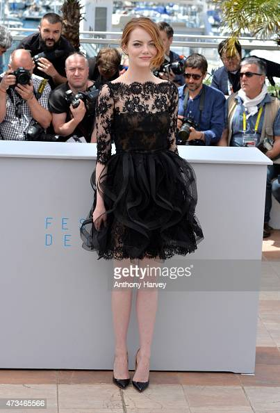 Emma Stone attends the 'Irrational Man' photocall during the 68th annual Cannes Film Festival on May 15 2015 in Cannes France